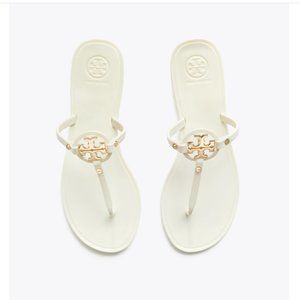 Tory Burch Mini Miller Jelly Thong White Sandals 5